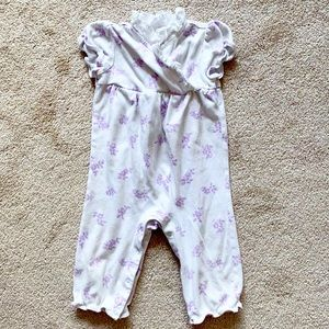 Janie and Jack | White & purple floral one-piece